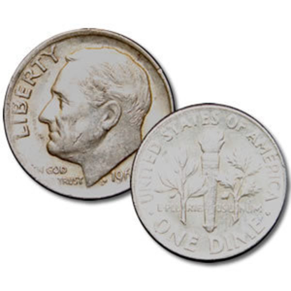 Compare silver prices of Roosevelt 90% Silver Dimes $5 face value Roll