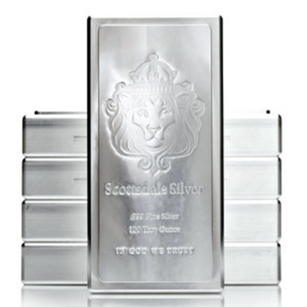 Compare silver prices of Scottsdale KING Stacker 100 oz Silver Bar