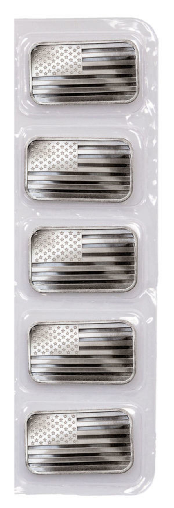 (5) 1 oz American Flag Bars