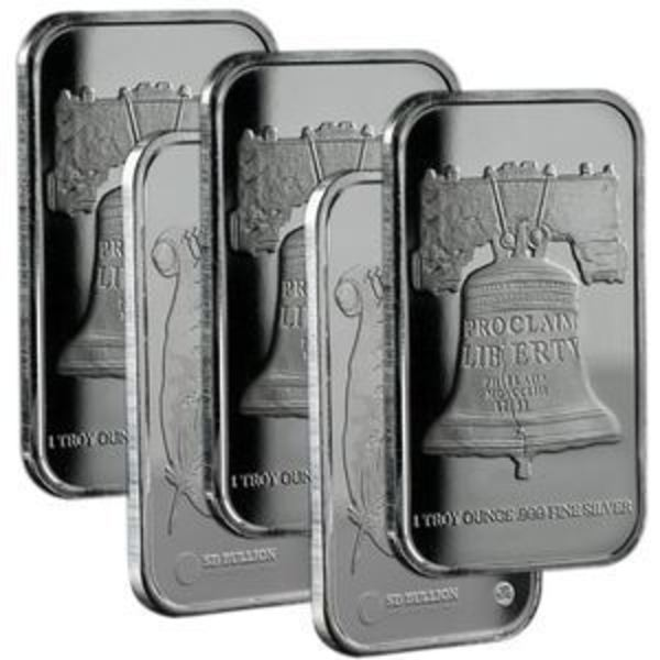 (5) 1 oz RMC Silver Bars