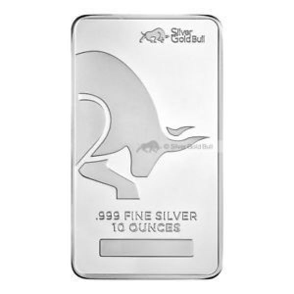 Silver Gold Bull 10 oz Silver Bar
