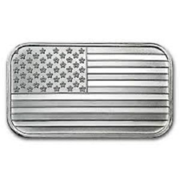 Compare silver prices of SilverTowne 1 oz American Flag Silver Bar