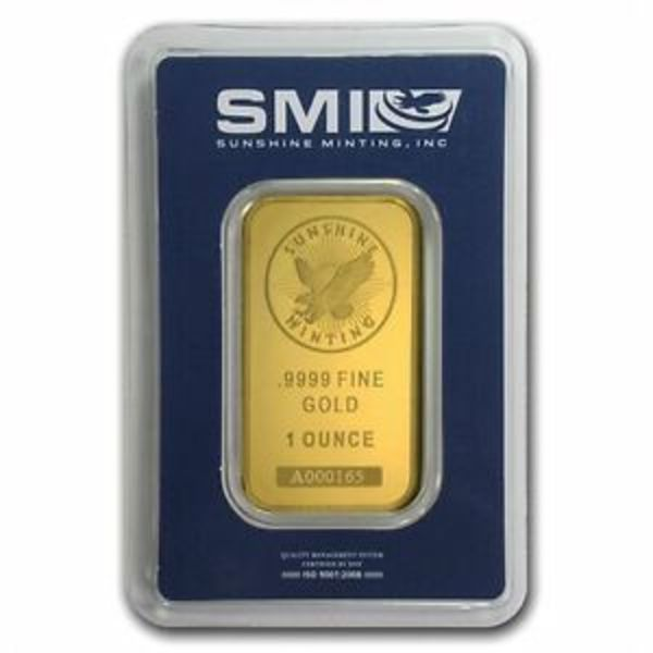 Compare gold prices of 1 oz Gold Bar Sunshine Minting .9999 Fine 24kt (in Assay)