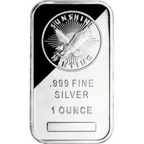 Compare silver prices of 1 oz Sunshine Mint Silver Bar