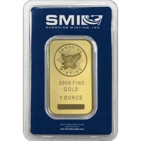 Compare gold prices of Sunshine Minting 1 oz Gold Bar
