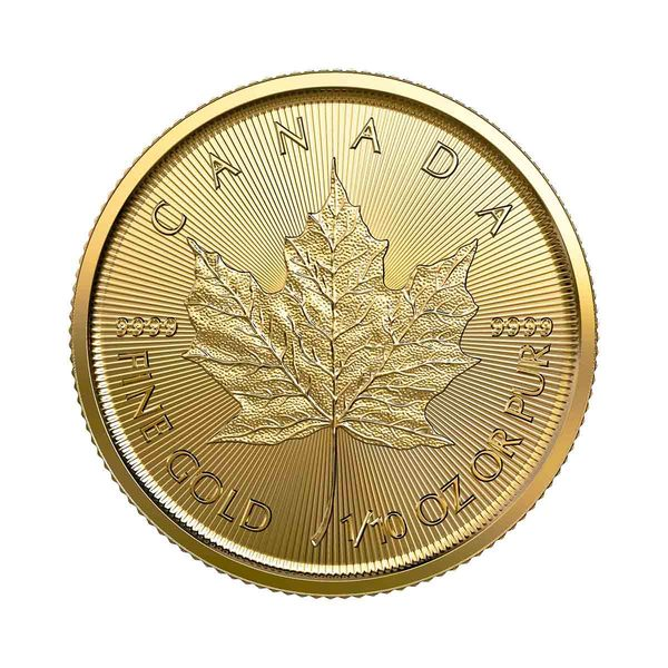 Compare gold prices of 1/10 oz Canadian Gold Maple Leaf Coin - Random Year