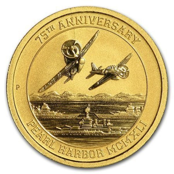Compare gold prices of 2016 Tuvalu 1/10 oz Gold Pearl Harbor BU