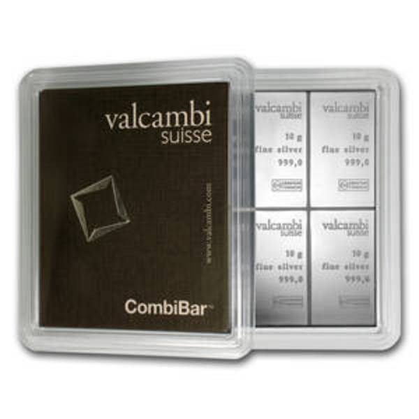 Compare silver prices of 10x 10 gram Silver Bar - Valcambi Silver CombiBar™