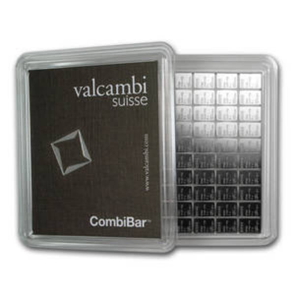 Compare cheapest prices of 100x 1 gram Silver Bar - Valcambi Silver CombiBar™